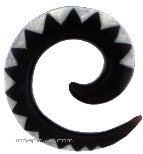 Espansor de cuerno de búfalo espiral inlayed, tallas 4-6mm Comprar - Venta Mayorista y detalle