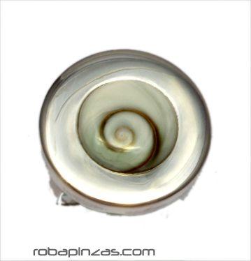 Anillo plata redondo, ojo de shiva y plata, regulable a todas las tallas [PLANOJ12] para comprar al por Mayor o Detalle en la categoría de Aros y Pendientes Plata