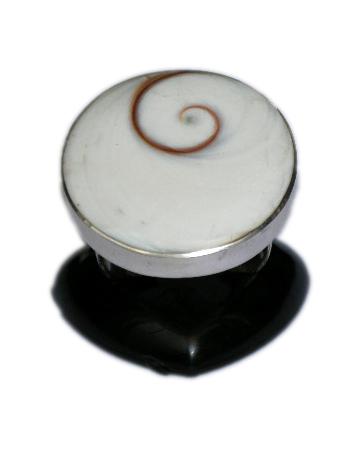 Anillo de plata Ojo de shiva engarzado, tamaño grande, redondo u Comprar - Venta Mayorista y detalle