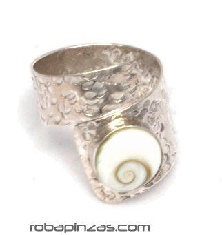 Anillo ojo de shiva y plata, ajustable a todas las tallas - DETALLE Comprar al mayor o detalle