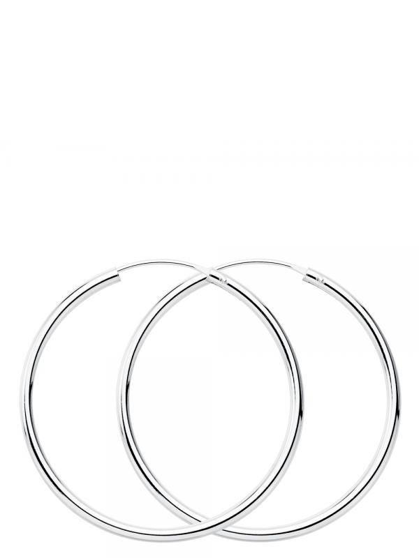Silberreifen und Ohrringe - Sterling Silber Creolen 35mm PLAR35 zum Kauf im Groß- oder Einzelhandel in der Kategorie alternativer ethnischer Hippie-Schmuck