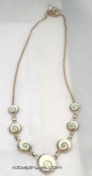 Collar filigrana ojo de shiva y plata - Comprar al Mayor o Detalle
