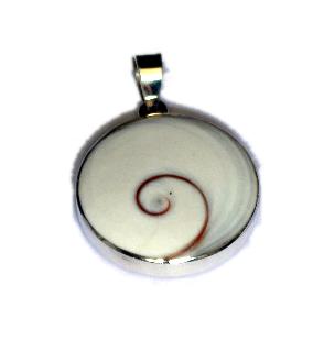 Colgante plata, Ojo de Shiva engarzado, full silver atras [PLCOOJ3] para Comprar al mayor o detalle
