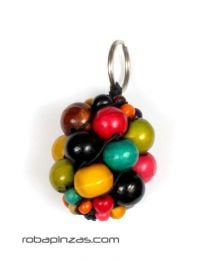 Laavero bunches of colored wooden balls. Belts Keychains to buy wholesale or detail in the category of Bohemian Hippie Fashion Accessories | ZAS. [LLBOU01]