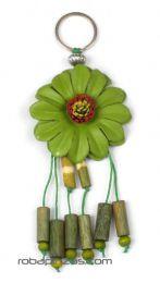 ZAS robapinzas.com |  llavero flor de cuero grande