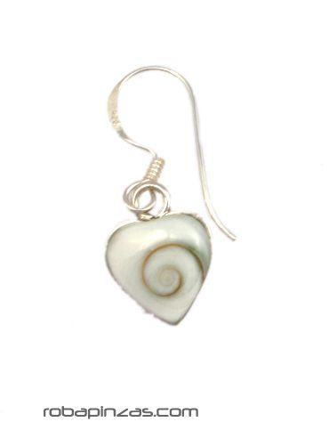 Pendientes corazón plata ojo de shiva [PLPEOJ13] para comprar al por Mayor o Detalle en la categoría de Ojo de Shiva - Plata