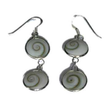 Pendientes plata ojo de shiva, doble [PLPEOJ2] para comprar al por Mayor o Detalle en la categoría de Ojo de Shiva - Plata