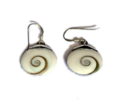 Pendientes plata ojo de shiva engarzado, mediano [PLPEOJ3] para comprar al por Mayor o Detalle en la categoría de Ojo de Shiva - Plata