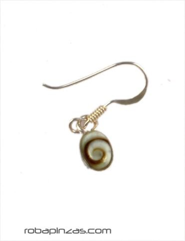 Pendientes pequeños plata ojo de shiva [PLPEOJ9] para comprar al por Mayor o Detalle en la categoría de Ojo de Shiva - Plata