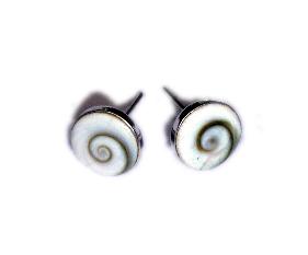 Pendientes plata Ojo de shiva, tuerca [PLPEOJT] para comprar al por Mayor o Detalle en la categoría de Ojo de Shiva - Plata
