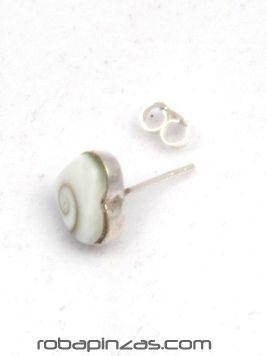 Pendientes tuerca, plata y7 ojo de shiva [PLPEOJT4] para comprar al por Mayor o Detalle en la categoría de Ojo de Shiva - Plata