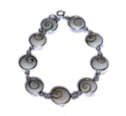 Pulsera plata ojo de shiva 9 piezas pequeña [PLPUOJ4] para comprar al por Mayor o Detalle en la categoría de Ojo de Shiva - Plata