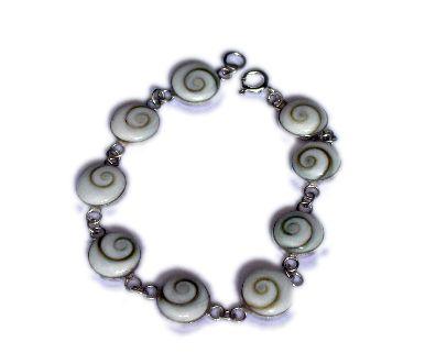 Pulsera plata, Ojo de Shiva, oval [PLPUOJ5] para comprar al por Mayor o Detalle en la categoría de Ojo de Shiva - Plata
