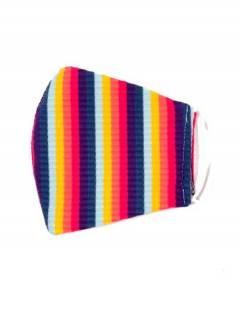 Mehrfarbige Stoffmaske, um Großhandel oder Detail in der Kategorie Bohemian Hippie Fashion Accessories | zu kaufen ZAS. [MAPO01-A]