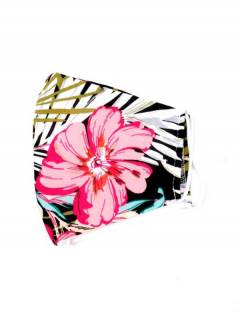 Flower fabric mask, to buy wholesale or detail in the Bohemian Hippie Fashion Accessories category   ZAS. [MAPO01-B]