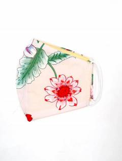 Flower fabric mask, to buy wholesale or detail in the Bohemian Hippie Fashion Accessories category | ZAS. [MAPO01-B]