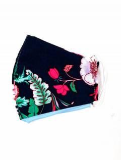 Mascarilla de tela de Flores,  para comprar al por mayor o detalle  en la categoría de Complementos y Accesorios Hippies  Alternativos  | ZAS. [MAPO01-B]