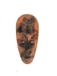 Máscara étnica tribal 25cm,  para comprar al por mayor o detalle  en la categoría de Decoración Étnica Alternativa. Incienso y Expositores | ZAS Tienda Hippie. [MASB13]