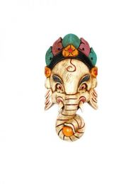 Decoración Etnica - Máscaras ganesha realizadas en madera [MASC11] para comprar al por mayor o detalle  en la categoría de Artículos Artesanales.
