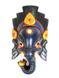 Máscara ganesh realizadas manualmente en madera y decoradas a mano MASC12 para comprar al por mayor o detalle  en la categoría de .