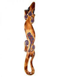 Decoración Etnica - Gecko étnico tribal MASGE13 - Modelo Marrón cl