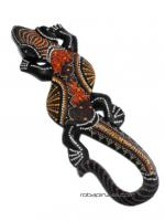 Decorated sono wood gecko, size 20cm approx. ** Due to the to buy wholesale or detail in the Alternative Ethnic Decoration category. Incense and Displays | ZAS Hippie Store [MASGE1].