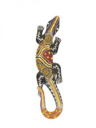 Decoración Etnica - Gecko Tribal Étnico 60cm [MASGE4] para comprar al por mayor o detalle  en la categoría de Artículos Artesanales.
