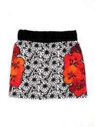Minifalda hippie 100% algodón detalle del producto