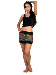 Minifalda hippie expandex detalle del producto