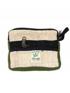 Bolsos Mochilas y Riñoneras de Cáñamo - Monedero Grande de cáñamo MOHC04 - Modelo Verde
