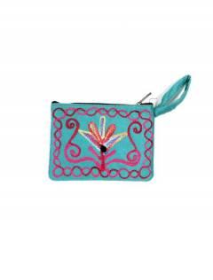 Bolsa de pele de pêssego bordado do Tibete, para comprar no atacado ou detalhes na categoria de acessórios de moda hippie boêmio | ZAS. [MOKA01]