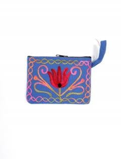 Monedero Piel melocotón tibet bordado, para comprar al por mayor o detalle  en la categoría de Complementos y Accesorios Hippies  Alternativos  | ZAS.[MOKA01]