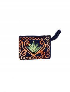 Monedero Piel melocotón tibet bordado, para comprar al por mayor o detalle  en la categoría de Accesorios de Moda Hippie Bohemia | ZAS.[MOKA01]