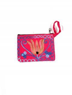 Sac à main en peau de pêche brodée Tibet, à acheter en gros ou en détail dans la catégorie Accessoires de mode Bohemian Hippie | ZAS. [MOKA01]