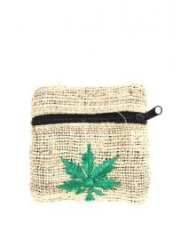 hemp purses - hemp with embroidered marijuana [MOKA05]. Hemp Bags, Backpacks and Fanny Packs to buy wholesale or detail in the Bohemian Hippie Fashion Accessories category | ZAS.
