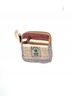 Bolsos Mochilas y Riñoneras de Cáñamo - Monedero de Cáñamo y algodón [MOKA14] para comprar al por mayor o detalle  en la categoría de Complementos Hippies Alternativos.
