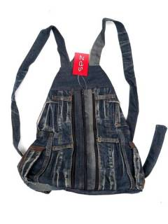 Backpack of Recycled Jeans Jeans, to buy wholesale or detail in the category of Hippie and Alternative Clothing for Men | ZAS Hippie Store. [MOMI01]
