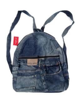 Riesenrucksack aus recycelten Jeans Jeans, um Großhandel oder Details in der Kategorie Bohemian Hippie Fashion Accessoires | zu kaufen ZAS. [MOMI02]