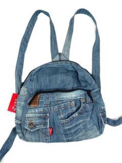 Mittlerer Rucksack aus recycelten Jeans Jeans MOMI03 zum Kauf im Großhandel oder Detail in der Kategorie Bohemian Hippie Fashion Accessoires | ZAS.
