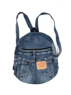 Hippie Bags and Backpacks - Backpack made with Recycled Jeans pants [MOSH01] to buy in bulk or in detail in the category of Alternative Hippie Accessories.