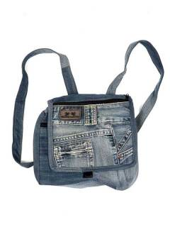 Hippie Bags and Backpacks - Backpack made with Recycled Jeans pants [MOSH02] to buy in bulk or in detail in the category of Alternative Hippie Accessories.