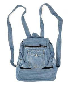 Hippie Bags and Backpacks - Backpack made with Recycled Jeans pants [MOSH03] to buy in bulk or in detail in the category of Alternative Hippie Accessories.