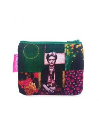 Large Frida Kahlo Print Purse. MOSMPO to buy wholesale or detail in the Bohemian Hippie Fashion Accessories category | ZAS.