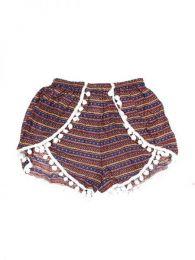 Pantalón hippie corto Mod Morado