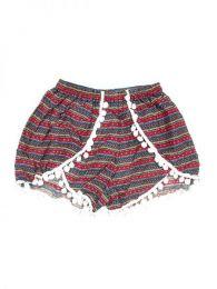 Pantalón hippie corto Mod Rojo