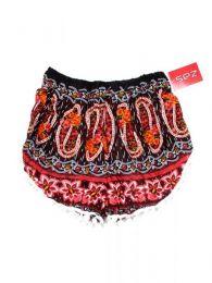 Pantalones Cortos Hippie Ethnic - Pantalón hippie corto PAET03 - Modelo Rojo