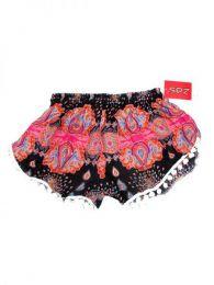 Pantalones Cortos Hippie Ethnic - Pantalón hippie corto PAET04 - Modelo Rosa