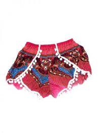 Pantalones Cortos Hippie Ethnic - Pantalón hippie corto PAET06 - Modelo Rosa