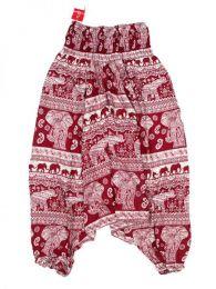 Pantalón hippie ancho Mod Rojo