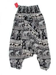 Pantalón hippie ancho Mod Negro